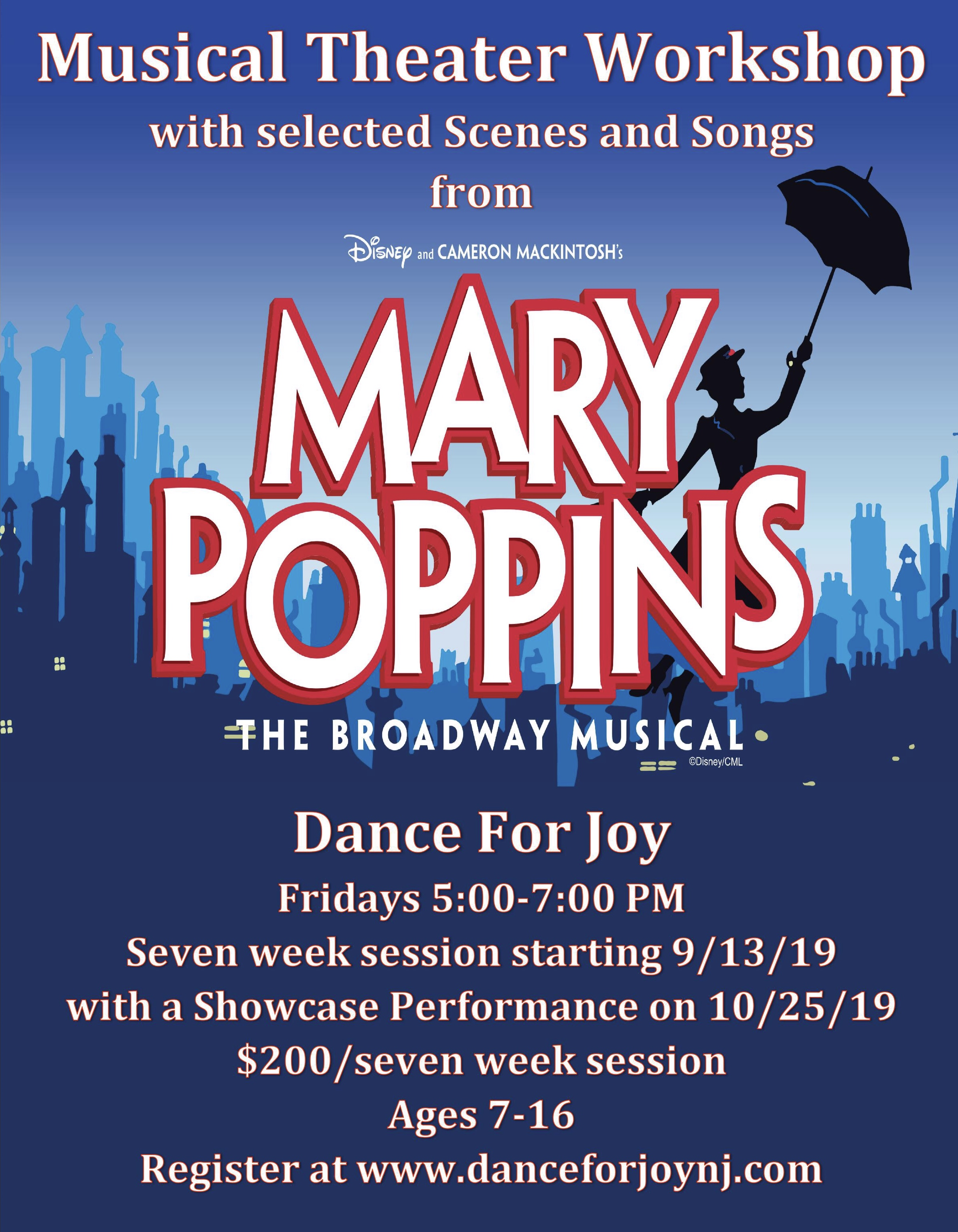Mary Poppins Workshop | Dance4JoyNJ